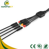 Cable de carga compartido 2pin-6pin impermeable del conector de la bicicleta