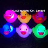 Glühen-Baby-Dusche GummiDuckies Spielzeug des Zoll-LED