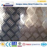 Placa de acero inoxidable grabada metal de la hoja del diamante