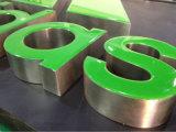 Côtés d'acier inoxydable avec les signes accumulés sans monture acryliques de lettre de face lumineux par DEL