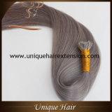 最上質の二重引かれたGeryのブラジルの毛の拡張