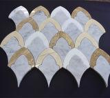 不規則な石造りのWaterjetモザイク床タイルおよびモザイク模様