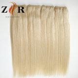 Trama indiana do cabelo humano do cabelo da cor natural da cor clara