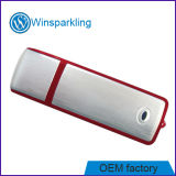 Memória Flash USB vermelho com porta-chaves