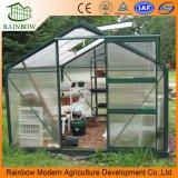 Galvanizado en caliente de la estructura de acero de policarbonato (PC) Hoja Mini invernadero de flores y verduras