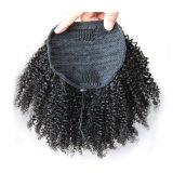 毛の拡張アフリカのパフのポニーテールのアフリカ系アメリカ人のインドのねじれた巻き毛クリップ