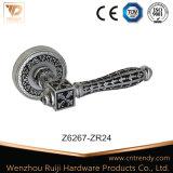 Мебельная фурнитура цинк рукоятка рычага двери на площади Rosette (Z6262)