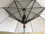 Ombrello diritto personalizzato del ventilatore del USB di disegno 23inch 8K di immaginazione di stampa di marchio con i ventilatori