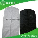 El polvo de promoción personalizada de cremallera PEVA de plástico negro cubierta de traje no tejido Bolsa de viaje Bolsa de prendas de vestir