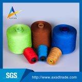 Linha Sewing girada 100% do poliéster com cores diferentes