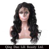 레이스 아기 머리를 가진 흑인 여성을%s 정면 사람의 모발 가발은 전 브라질 Remy 머리 바디 파를 뽑았다