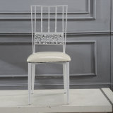 Sillas blancas de la boda del color del hotel de la fuente de la fábrica que cenan la silla