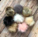 Plush Pompons 12cm amovible en fausse fourrure Racoon Pompom Ball