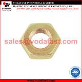 La norme ISO 4035 DIN 439 jaune à six pans à tête hexagonale en acier zingué de l'écrou mince