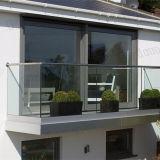 유리제 발코니 방책 디자인을%s Oudoor Frameless 유리제 방책