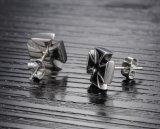 De nieuwe Oorringen van de Nagel van de Juwelen van de Verfhandelaars van de Oorringen van de Mensen van de Manier Dwars Zwarte Mannelijke