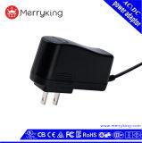 La FCC d'UL du niveau VI 12V 1A nous a reconnus adaptateur d'alimentation AC de mur de la fiche USB