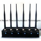Leistungsfähiger 5 Antennen justierbarer WiFi GPS Hemmer und aller drahtlose Programmfehler-Kamera-Hemmer, aller Hemmer-Signal-Hemmer 3G 4G Handy GPS-WiFi Lojack