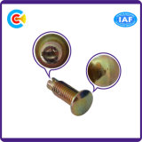 DIN/ANSI/BS/JIS kolen-staal/Schroef Van roestvrij staal van Word van de Draai van de Hand de Vlakke Hoofd voor Machine/Auto