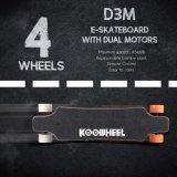 Koowheel D3m Mando a distancia el cubo doble motor eléctrico de Longboard de la Junta Auxiliar de la velocidad máxima de 30-45km/h