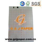 Papel de grabación médico de la carta de la red verde con la base de papel