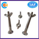 DIN/ANSI/BS/JIS Carbon-Steel/Cruz Stainless-Steel hexagonal encaixe do parafuso de aço inoxidável a Porca Borboleta