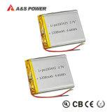 デジタル製品のための李ポリマー電池653759 3.7V 1500mAh電池