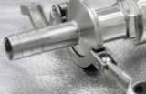 Type serré intégré sanitaire de manuel d'acier inoxydable du robinet à tournant sphérique SS304