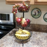 Panier de fruit multifonctionnel de cuisine de Kd en métal