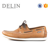 Высокое качество мужчин кожаные туфли на лодке башмака для мальчиков
