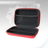 Caso cosmetico di cuoio di vendita caldo di corsa dell'unità di elaborazione con il sacchetto cosmetico portatile della visualizzazione della chiusura lampo