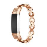 Cinturino di vigilanza del braccialetto di collegamento del braccialetto del metallo di modo per Fitbit Alta ora