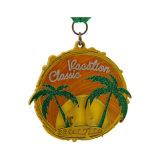 Médaille d'argent antique creux personnalisé Soft Médaille d'émail