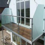 Liberar la barandilla de cristal del vidrio del acero inoxidable de la escalera 304 del pasamano del diseño