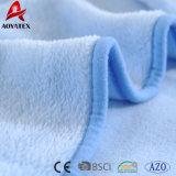 최고 판매 가공 최고 연약한 아기 담요를 감치는 고래류 패턴 아기 담요