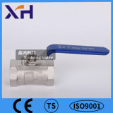1PC Válvula de bola de acero inoxidable de la palanca de bloqueo de DN15