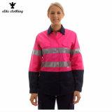 Roze In te ademen Zuurvaste ANSI Vis Workwear van de Waarschuwing hallo voor Vrouwen