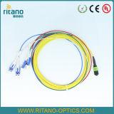 Cordon de connexion optique d'Om3 10g 150m LC de fibre à plusieurs modes de fonctionnement de la rubrique MPO/Mpt