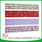 Lint van Kerstmis van de Decoratie van de Douane van het Lint van de brief het Kleurrijke