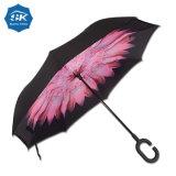 De in het groot Omgekeerde Dubbele Omgekeerde Paraplu van de Laag C Handvat