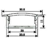 Montaje de superficie de aluminio Perfil de LED para iluminación de LED DE TIRA flexible