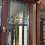 Алюминиевые Casement двойной застеклять профиля/тент/окно поворота наклона с штарками