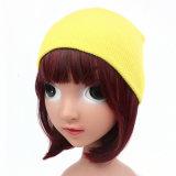 子供の赤ん坊の子供は編んだ帽子の固体頭骨の帽子の暖かい帽子(HW631)を