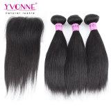 Commercio all'ingrosso di Yvonne 3 gruppi con i capelli diritti brasiliani della chiusura