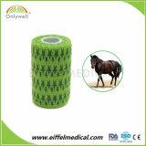 A impressão de fábrica auto-colante colorido veterinários coesa bandagem elástica