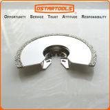 lámina oscilante de la herramienta del corte del rubor del semicírculo de la arena del diamante de 86m m (3-3/8 '')