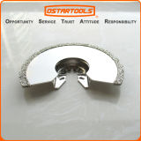 lâmina de oscilação de Multitool do corte do resplendor do Semicircle do diamante de 86mm (3-3/8 '')