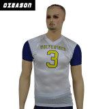 別の名前及び番号を用いるカスタムアメリカン・フットボールのワイシャツ