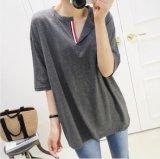 Simple mayorista de alta calidad de la Moda Mujer Camiseta Manga corta