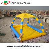 Высокое качество надувной бассейн с палатка, надувной бассейн палатка с батут для продажи